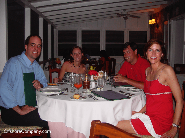Dining in Nevis
