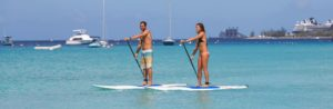 Barbados company paddle boards
