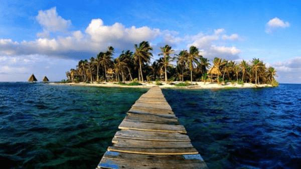 Praia en Belice