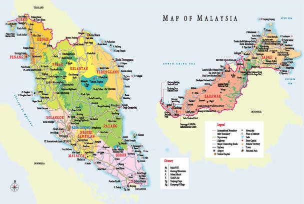 Mapa de Malàisia