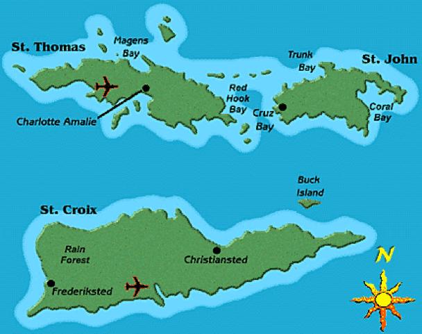 USVI Map