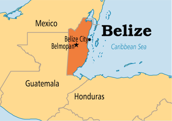Belize LLC map