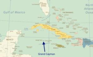 Mapa de Ilhas Cayman