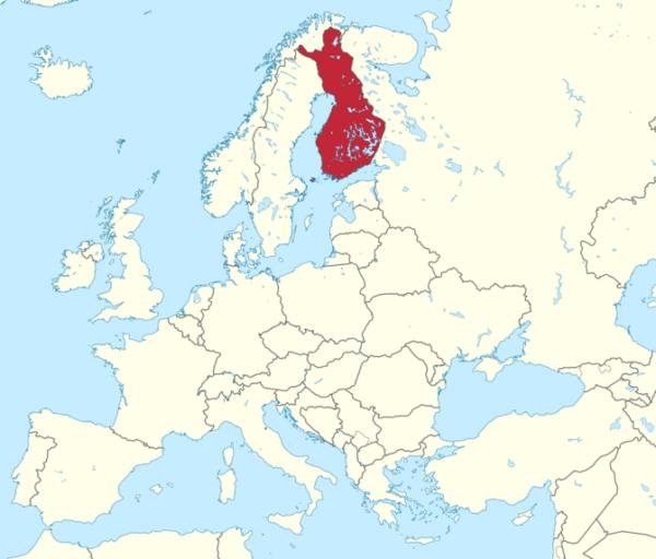 Finlandiako Mapa