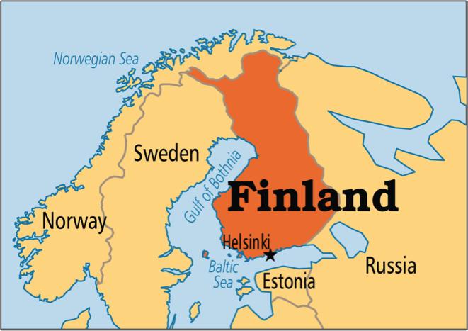 Mapa de Finlàndia