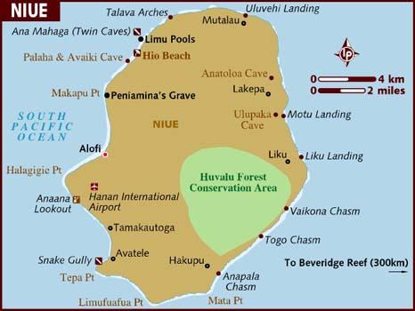 Niue xəritəsi
