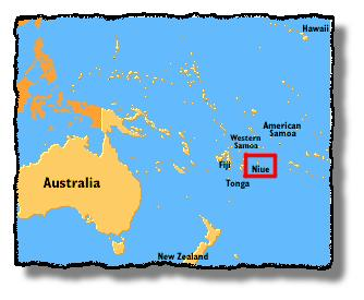 Perspective Map of Niue