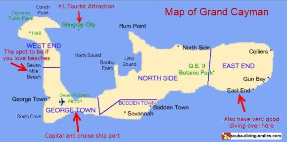 Mapa de les Illes Caiman