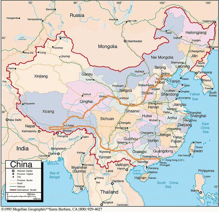 Txinako mapa