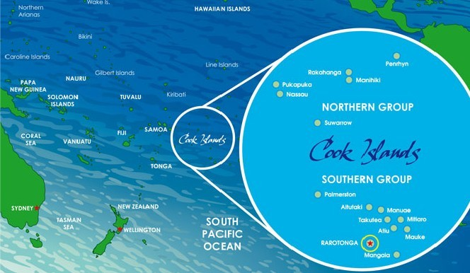 Cook Islands Map