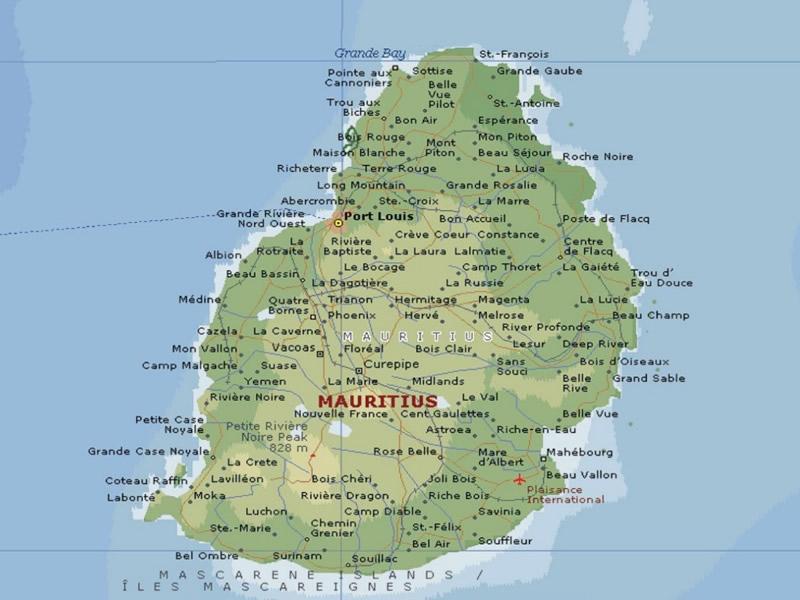 Mauritius Xəritə
