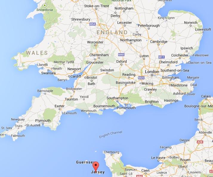 Jersey Island Map