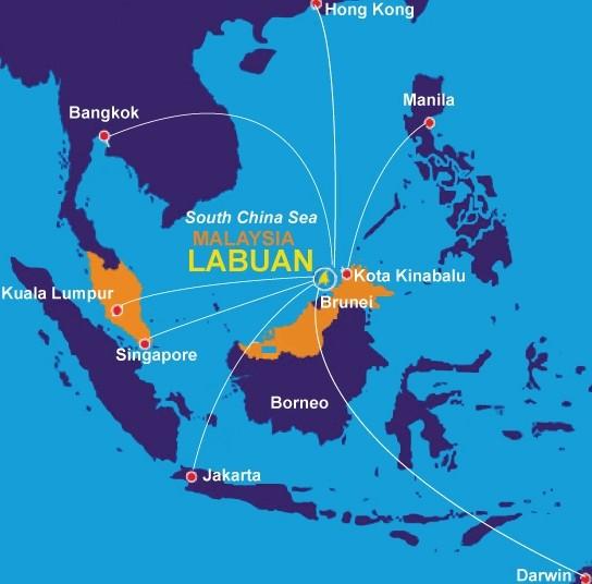 Map of Labuan