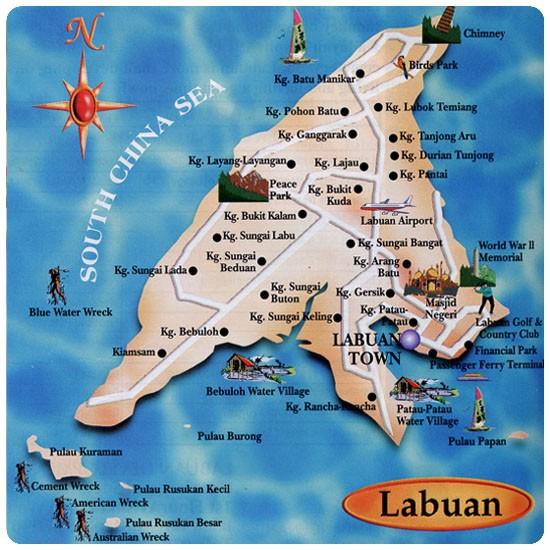 Labuan mapa