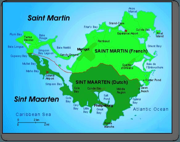 စိန့်မာတင်မြေပုံ