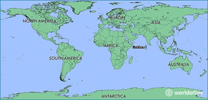 Maldives location map