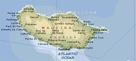 Madeira မြေပုံ