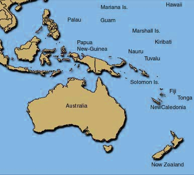 Australia New Zealand Map