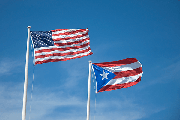 US Puerto Rico Flag