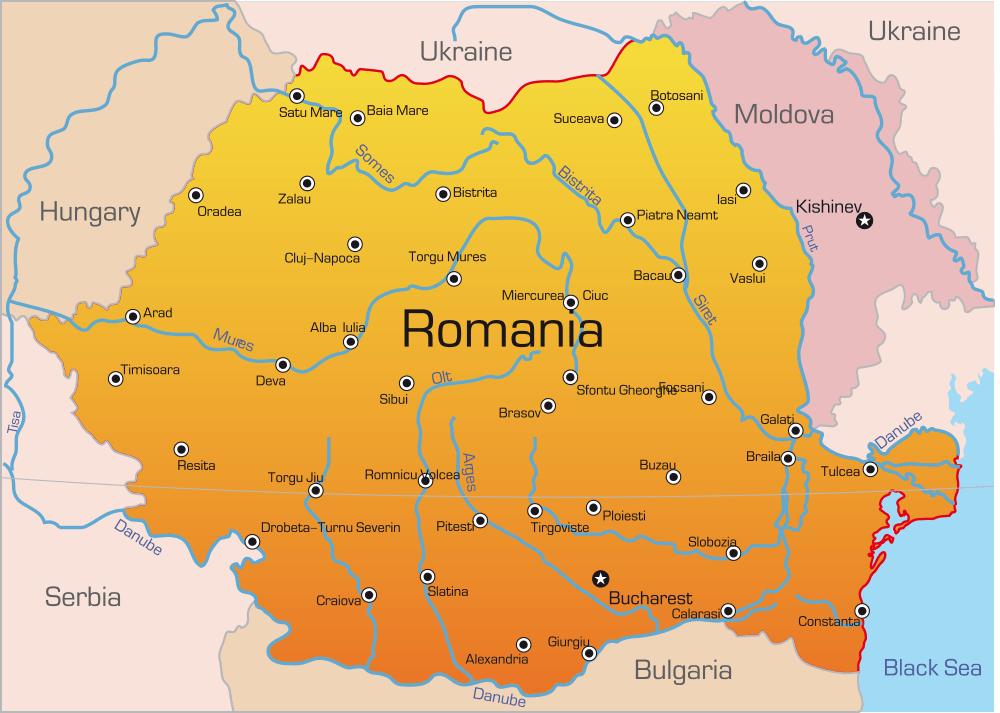 ရိုမေးနီးယားမြေပုံ