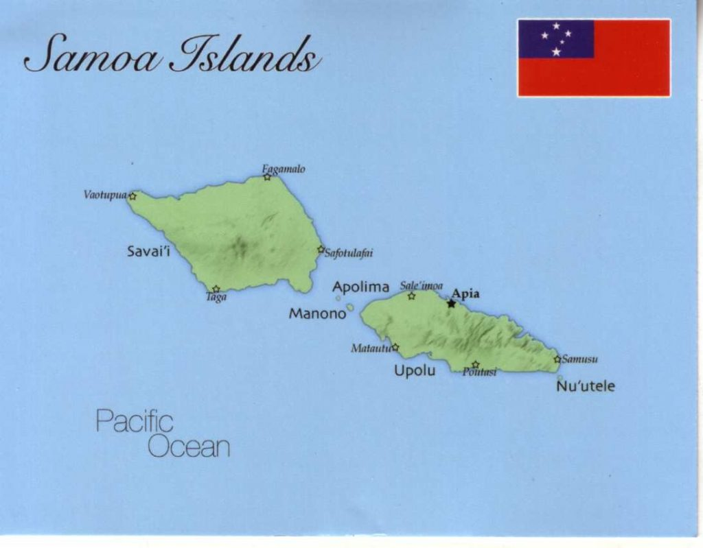 Samoan Islands Map