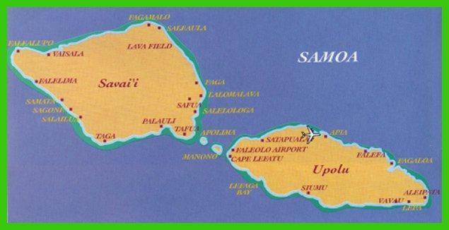Samoan map