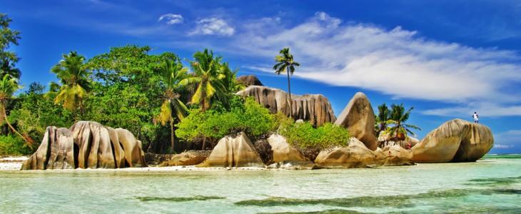Coastline in Seychelles