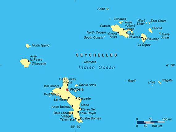 Mapa de Seychelles