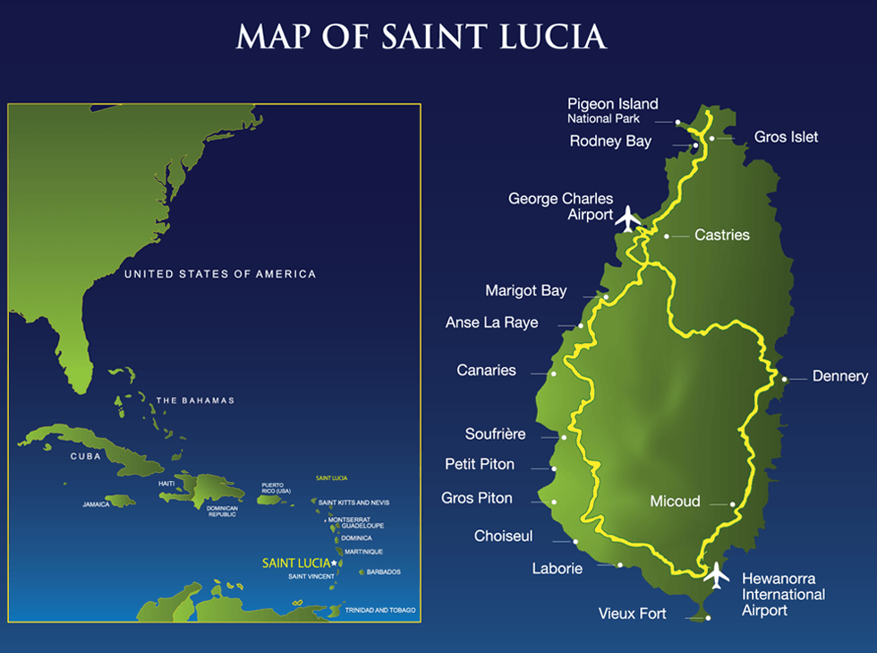 St. Lucia Map