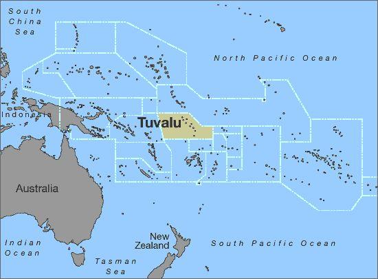Tuvalu xəritəsi