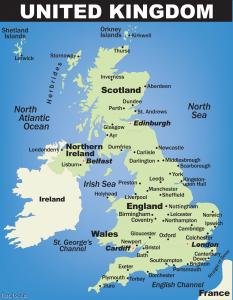 ဗြိတိန်နိုင်ငံမြေပုံ