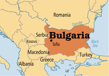 mapa de Bulgària