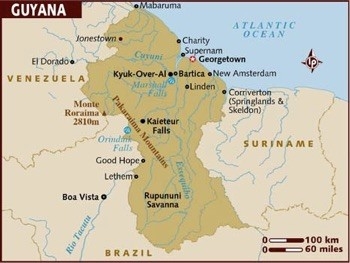 Map of Guyana