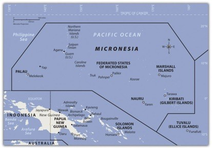 Micronesia map