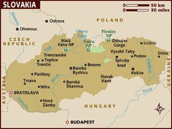 Slovakian Map