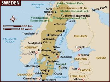 Swedish map