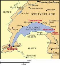 แผนที่ประเทศสวิสเซอร์แลนด์