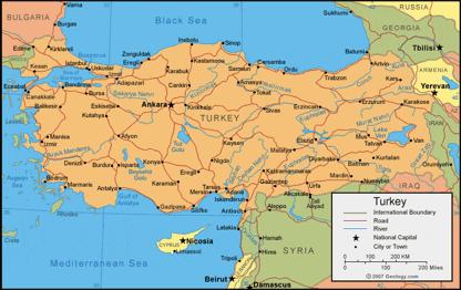 Turkiako mapa