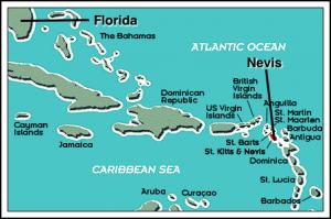 Mapa Nevisa
