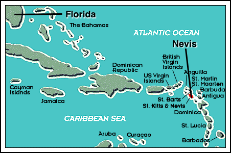 Carte de Nevis