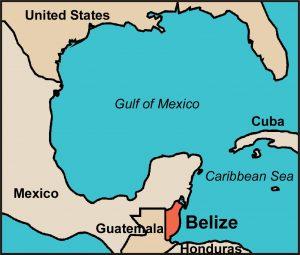 mappa del belize