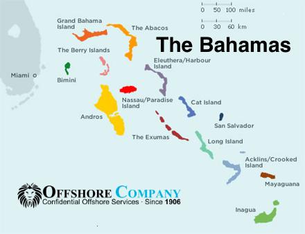Bahamak mapa