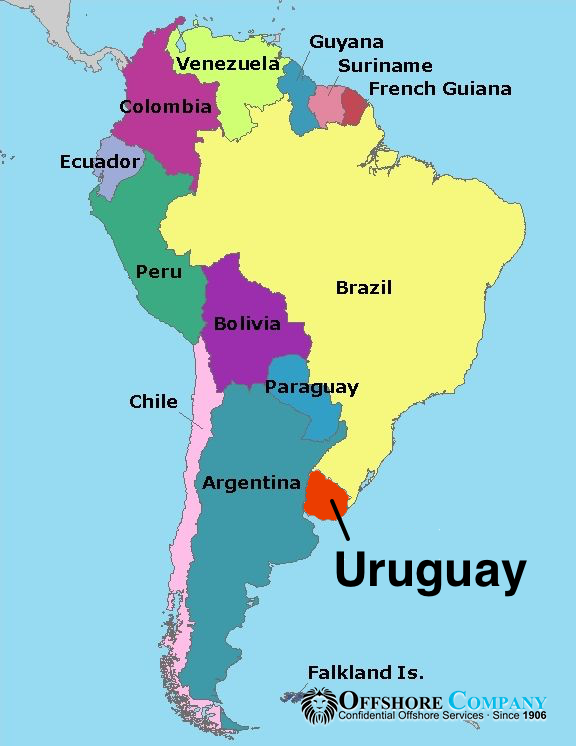 Uruguay in South America