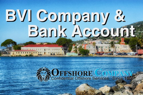 BVI company and bank account